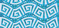 Seamless Mosaic Pattern - Blue Ceramic Tile Royalty Free Stock Photography - 38604557