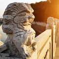 Stone Lions On The Bridge Royalty Free Stock Photography - 38632327