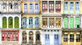 Collage Of The Unique Windows. Royalty Free Stock Photography - 38635247