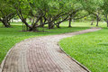 Shady Pathway In The Park Stock Photo - 38636770