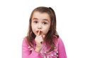 Girl Shows Hush Sign Stock Images - 38643734
