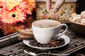 Brown Sugar On A Cup Of Coffee Stock Image - 38659271