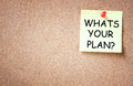Whats Your Plan Concept, Room For Text Royalty Free Stock Image - 38662326