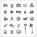 Camera Icons And Camera Accessories Icons Set Stock Photos - 38676403