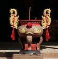 Large Incense Burner With Golden Dragons Royalty Free Stock Photos - 38679258