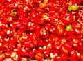 Chopping Red Chillies,close-up Stock Images - 38679264