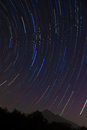 The Big Dipper Star Trail And Mount Tsukuba Stock Photography - 38695902