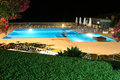 Pool View At Night Stock Photography - 3873422