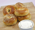 Assorted Fresh Bagels Stock Photo - 3879580