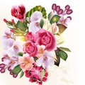 Beautiful  Vector Floral Background With Flowers Stock Photography - 38701232