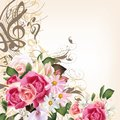 Floral Background With Roses And Flowers Royalty Free Stock Photo - 38702205