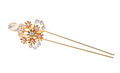 Gold Hairpin Stock Photography - 38708742
