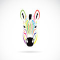 Vector Image Of An Zebra Head Colorful Royalty Free Stock Image - 38708986