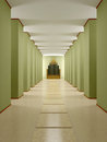 Hall, Corridor With Columns And Podium. Stock Images - 38710574