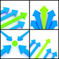 3d Arrows Royalty Free Stock Photography - 38722087
