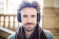 Young Handsome Man Listening To Music Stock Photo - 38724850