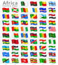 Vector African National Flag Set Royalty Free Stock Image - 38727466