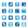 Mobile Phone Sign Icons Stock Images - 38728724