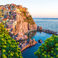 Sunset In Manarola, Cinque Terre, Italy Royalty Free Stock Images - 38732299