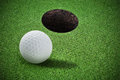 Decorative Grass And Golf Ball Stock Photography - 38732782