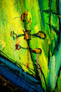 Sacred Cross Over Church, Painting,  Illustrati Stock Photo - 38735020