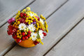 Bouquet Of Autumn Flowers And Plants Royalty Free Stock Photography - 38740957