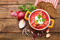Ukrainian And Russian National Red Borsch Royalty Free Stock Image - 38753196