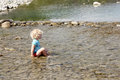 Toddler Playing In River Royalty Free Stock Photo - 38766595