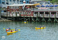 Tourists Riding Sea Kayaks In Bar Harbor, Maine Royalty Free Stock Photo - 38772195