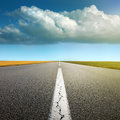 Driving On Asphalt Road Through The Fields Royalty Free Stock Photography - 38778537