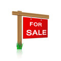 For Sale Sign Made ​​of Wood Stock Image - 38783851