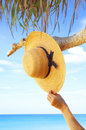 Leaving Hat Royalty Free Stock Image - 3889946