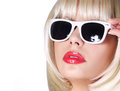 Fashion Blonde With Sunglasses Royalty Free Stock Image - 38800526