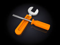 Wrench And Screwdriver Stock Photography - 38800612