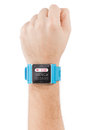 Smart Watch On Male Hand With Heart Beat On Screen Royalty Free Stock Photos - 38803478