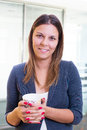 Businesswoman Having A Coffee Break Stock Photography - 38817222
