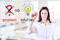 Business Woman Eliminate Problem And Find Solution Stock Image - 38819851