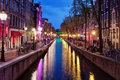 Red Light District By Night In Amsterdam Stock Photos - 38827503
