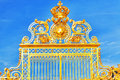 Golden Gate Of Chateau De Versailles Stock Photo - 38829970