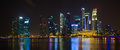 Singapore City At Night Royalty Free Stock Image - 38838566