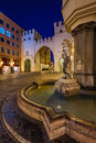 Brunnenbuberl Fountain And Karlstor Gate Royalty Free Stock Photo - 38866675