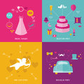 Wedding Party Set - Photobooth Props Royalty Free Stock Photography - 38872367