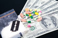 Drugs And Money Royalty Free Stock Photo - 38872825