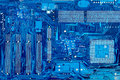 Close Up Of Computer Circuit Motherboard Stock Photo - 38881570