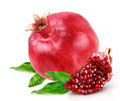 Pomegranate With Slice Royalty Free Stock Images - 38892719