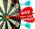 Get What You Want Words Dart Board Target Stock Photography - 38908752