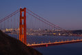 San Francisco Skyline Through Golden Gate Bridge Stock Photo - 38908990