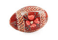 Hand Painted Wooden Easter Egg Stock Photos - 38916093