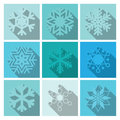 Vector Snowflakes Icons Set Design Stock Photo - 38928050