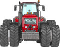 Vector Wheeled Tractor Royalty Free Stock Photo - 38929245